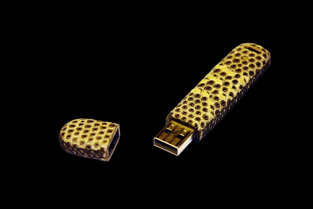 MJ - USB Flash Drive Leather Edition - Water Varanus, Monitor Lizard.
