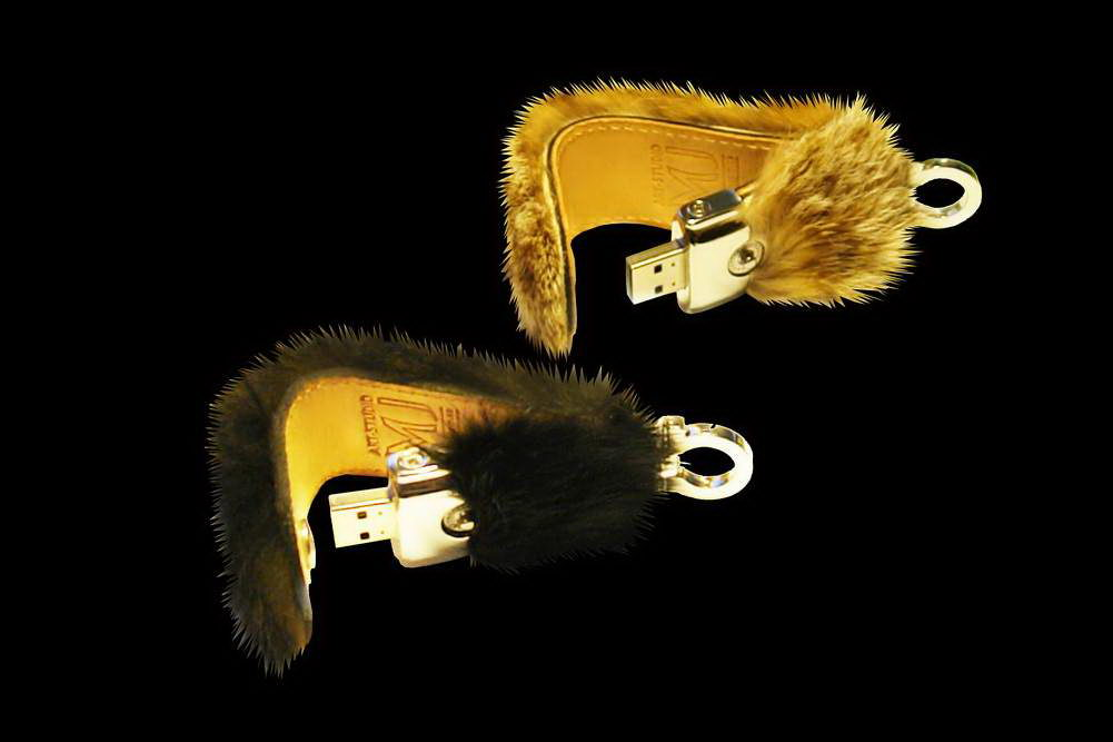 MJ - USB Flash Drive Fur & Leather Edition - Black Mink, Blue Fox, Sable, Lynx.