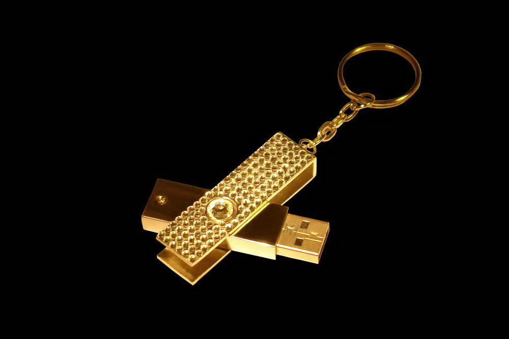 MJ - USB Flash Drive Diamond Edition - Gold, Palladium, Brilliants
