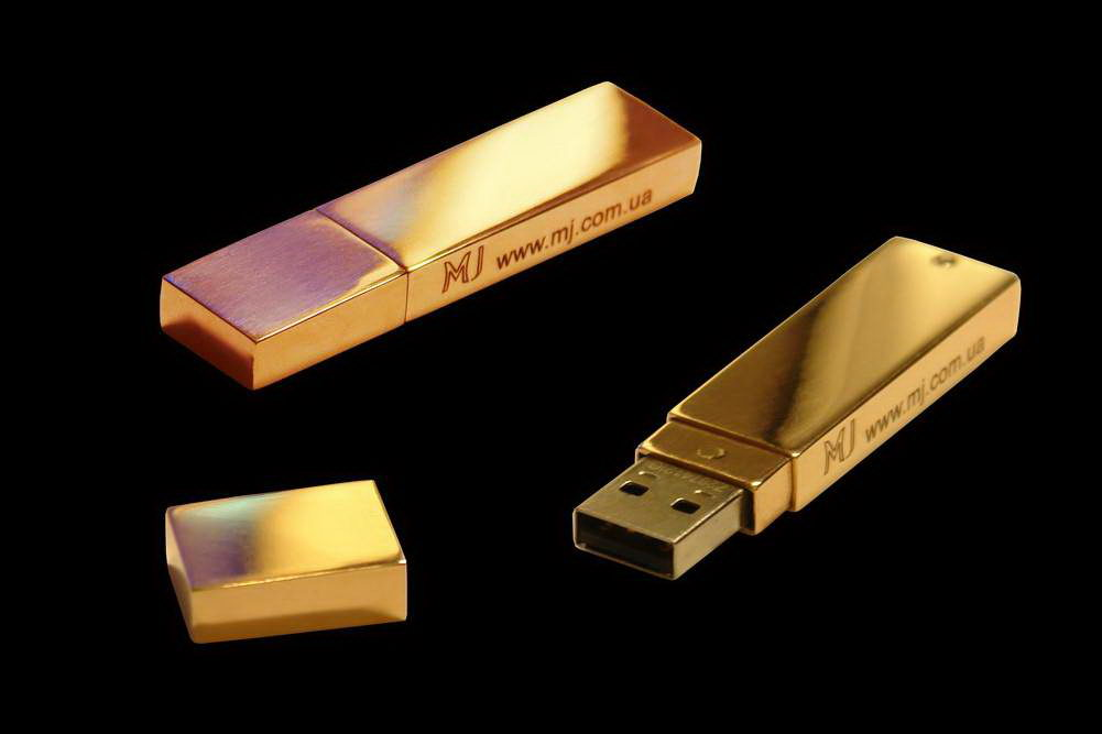 MJ - USB Flash Drive Gold Classical Edition - Solid Ingot Gold 24 Carat